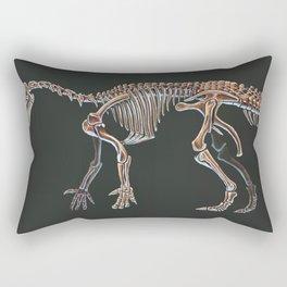 Iguanodon Bernissatnis Skeleton Study (No Labels) Rectangular Pillow