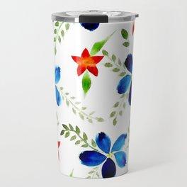 Breezy florals Travel Mug