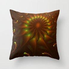 Fractal Climbing To The Light Throw Pillow