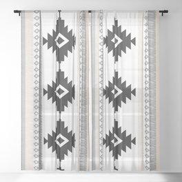 Pueblo in Tan Sheer Curtain