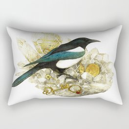 Magpie and Rutilated Quartz Rectangular Pillow