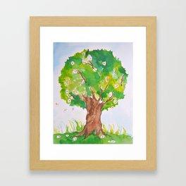 Fairy Tale Tree Framed Art Print