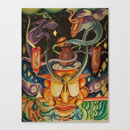The Mask of Rolling Love Canvas Print