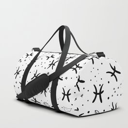 Pisces zodiac sign hand drawn seamless pattern Duffle Bag