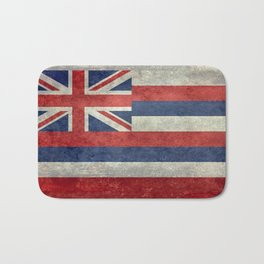 The State flag of Hawaii - Vintage version Bath Mat