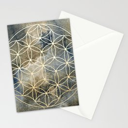Sacred Geometry Ombre Watercolor Stationery Cards