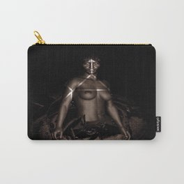 Black Queen Artistic Nude African American Woman  Rose  Carry-All Pouch
