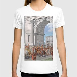 Classical Masterpiece: Roman Legion in Triumphal Procession by Herbert Herget T-shirt