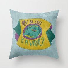 MAKE IT GO VIRUS Throw Pillow