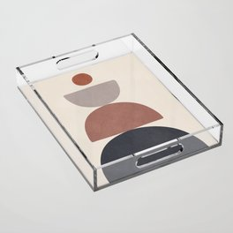 Balancing Elements III Acrylic Tray