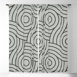 Circle Swirl Pattern Benjamin Moore's color of the year 2019 Metropolitan Gray AF-690 Blackout Curtain