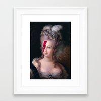 marie antoinette Framed Art Prints featuring Marie Antoinette by lapinette