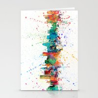 maryland Stationery Cards featuring Baltimore Maryland Skyline by artPause