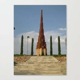 Monument in a Spanish Park Canvas Print
