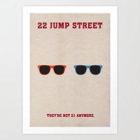 22 Jump Street Minimalist Poster Art Print