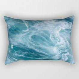 Ocean Storm   Classic Blue Rectangular Pillow