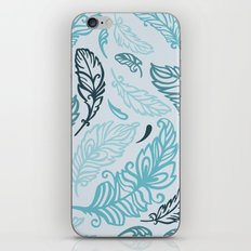 Pattern with colored feathers iPhone & iPod Skin