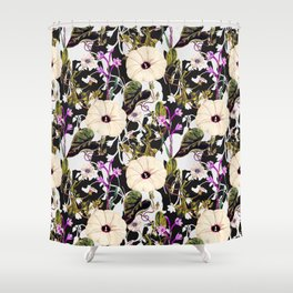 Flowery abstract garden Shower Curtain