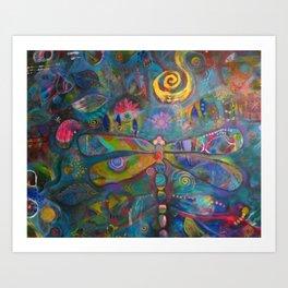 Ka'Pinao Spirit of Dragonfly  Art Print