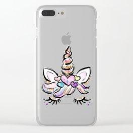 Gift for her Unicorn, Adult Unicorn mom, Women Cute Unicorn, Unicorn mum, Unicorn lover Clear iPhone Case