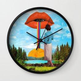 Lips & Rainbow Wall Clock