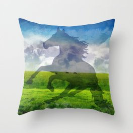 Horse fantasy Throw Pillow