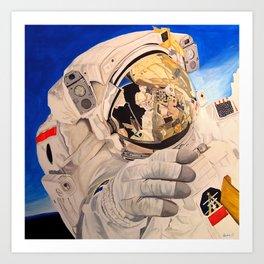 Astronaut in space, man. Art Print