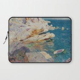 Joaquin Sorolla Y Bastida - Rocks at Javea. The white boat Laptop Sleeve