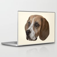 beagle Laptop & iPad Skins featuring Beagle by Goncalo