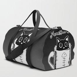 Hand Drawing Meowffee Duffle Bag