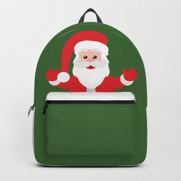 Christmas Santa Claus Says Welcome to You Backpack