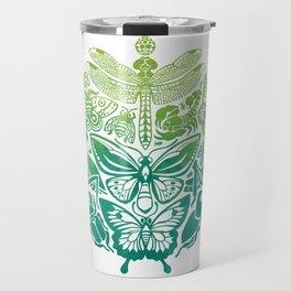 Bugs & Butterflies: green Travel Mug