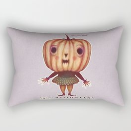 Pumpkin Witch Rectangular Pillow