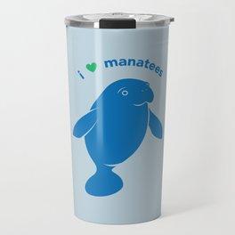 I love Manatees Travel Mug