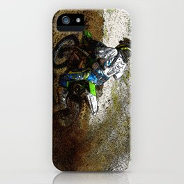 Round the Bend - Dirt-Bike Racing iPhone Case