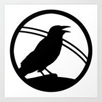 Crow Art Art Print