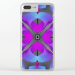 Techno Art Clear iPhone Case