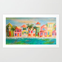 Beach houses Art Print