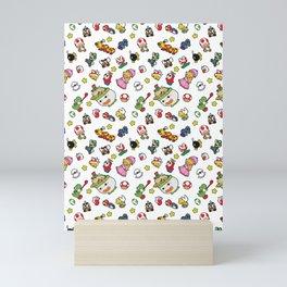 It's a really SUPER Mario pattern! Mini Art Print