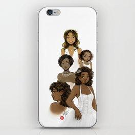 Black in White iPhone Skin