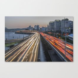 Hannam Light Trails Canvas Print