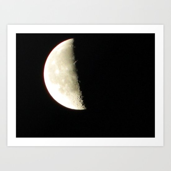 Moon shot taken from the Dark Sky Observatory Scotland Art Print