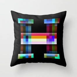 H like Hue and Saturation Throw Pillow