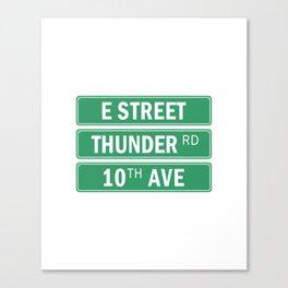 E Street Thunder Road 10th Ave Canvas Print