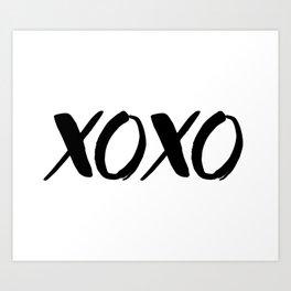 XOXO - Hugs and Kisses Art Print