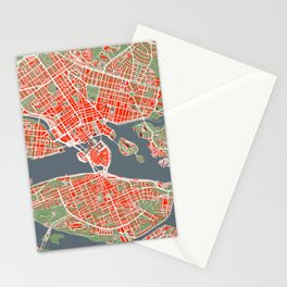 Stockholm city map classic Stationery Cards