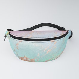 Rainbow Glamour Marble Texture Fanny Pack