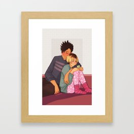 Sleepy Kuroken Framed Art Print