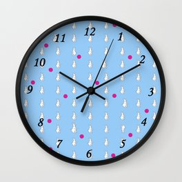 Rabbit and red dot Wall Clock