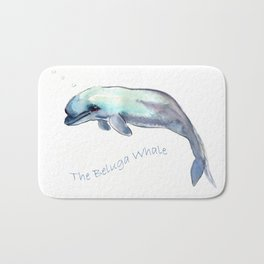 The Beluga Whale Bath Mat